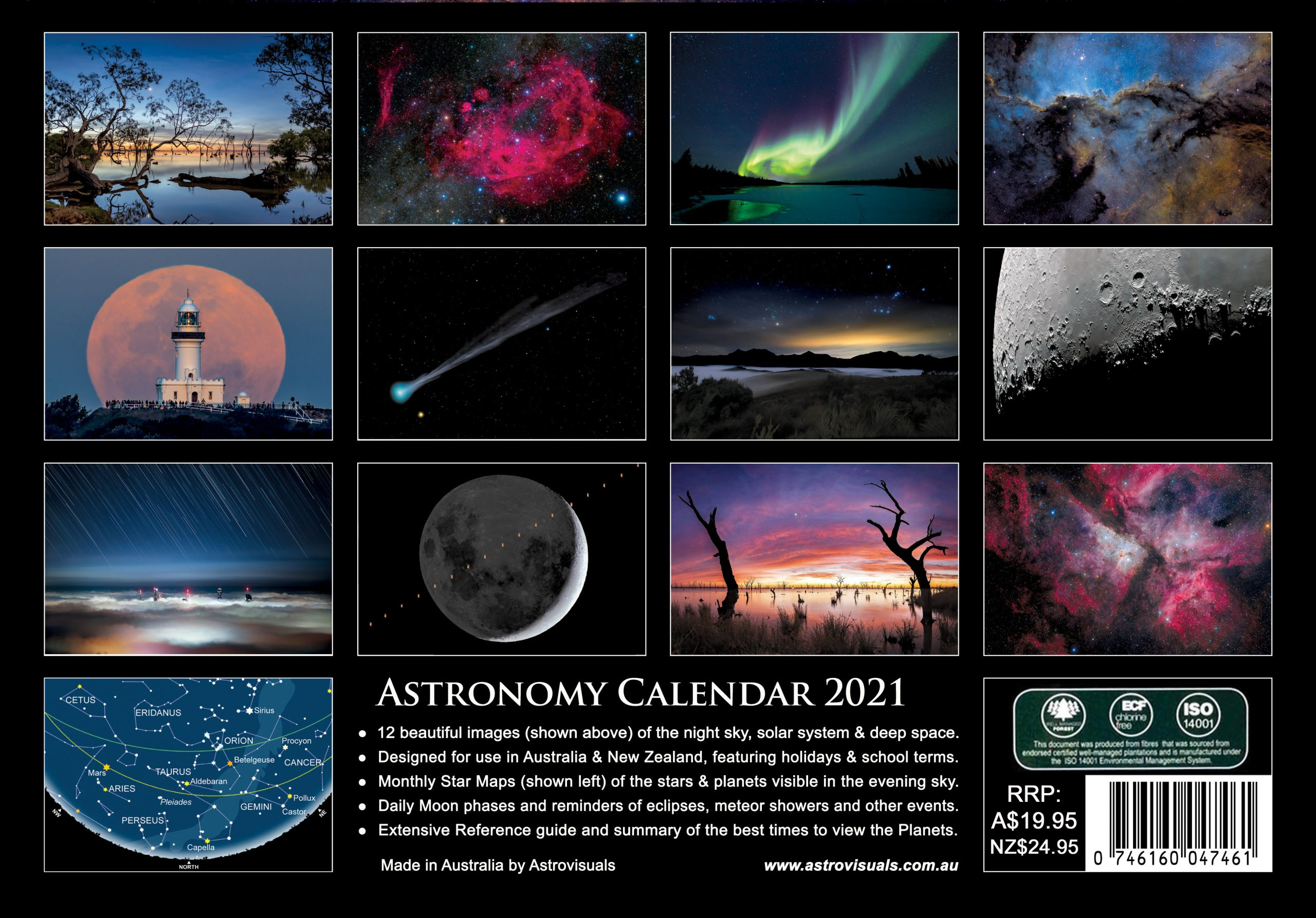 Astronomy Calendar OUT OF PRINT   Astrovisuals